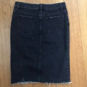 H&M Skirts - Black denim pencil skirt with front slit